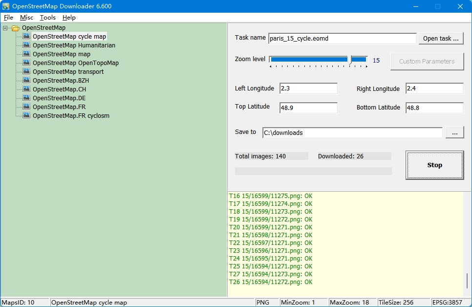 Click to view Easy OpenstreetMap Downloader 6.0 screenshot