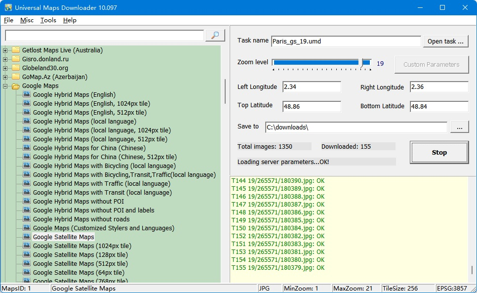 Universal Maps Downloader full screenshot